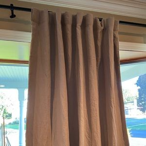 Pottery Barn Linen Blackout Curtain Drape